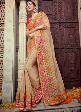 Intricate Pure Chiffon Embroidered Work Designer Classic Saree