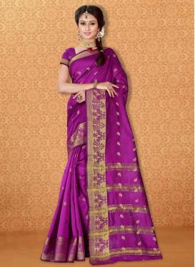 Intriguing Banarasi Silk Resham Work Trendy Classic Saree