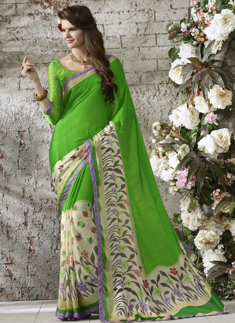 Intriguing Chiffon Satin Casual Saree