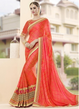 Intriguing Fancy Fabric Beads Work Contemporary Style Saree