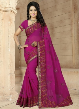 Intriguing Faux Georgette Classic Saree