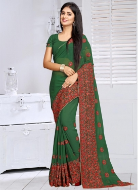 Intriguing Faux Georgette Trendy Classic Saree