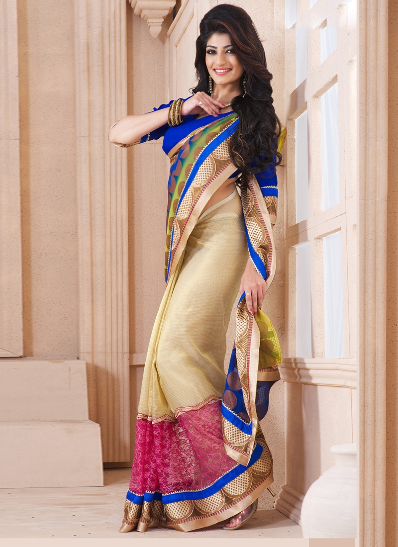Intriguing Georgette Party Wear Saree