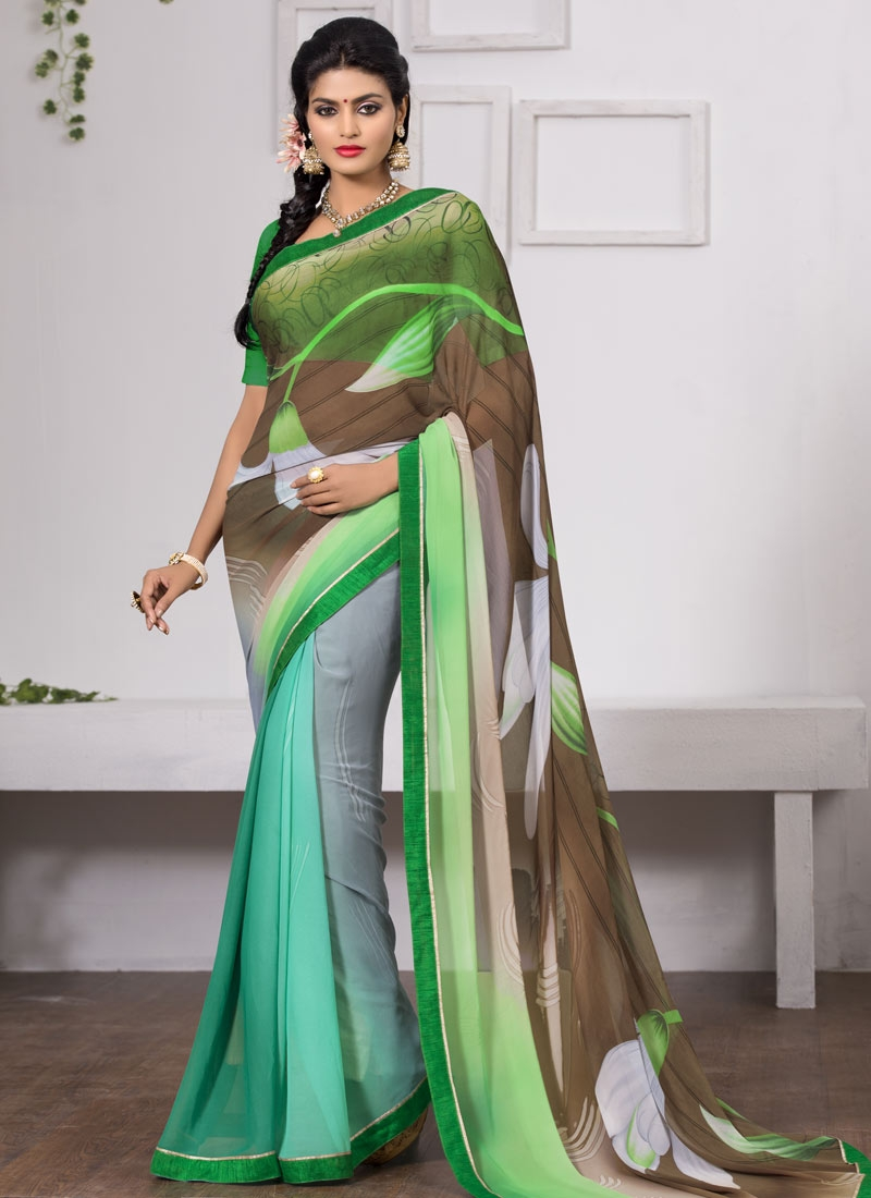 Intriguing Multi Color Casual Saree