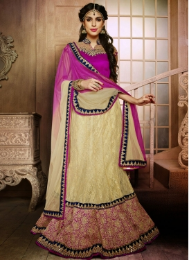 Intriguing Patch And Lace Work Wedding Lehenga Choli