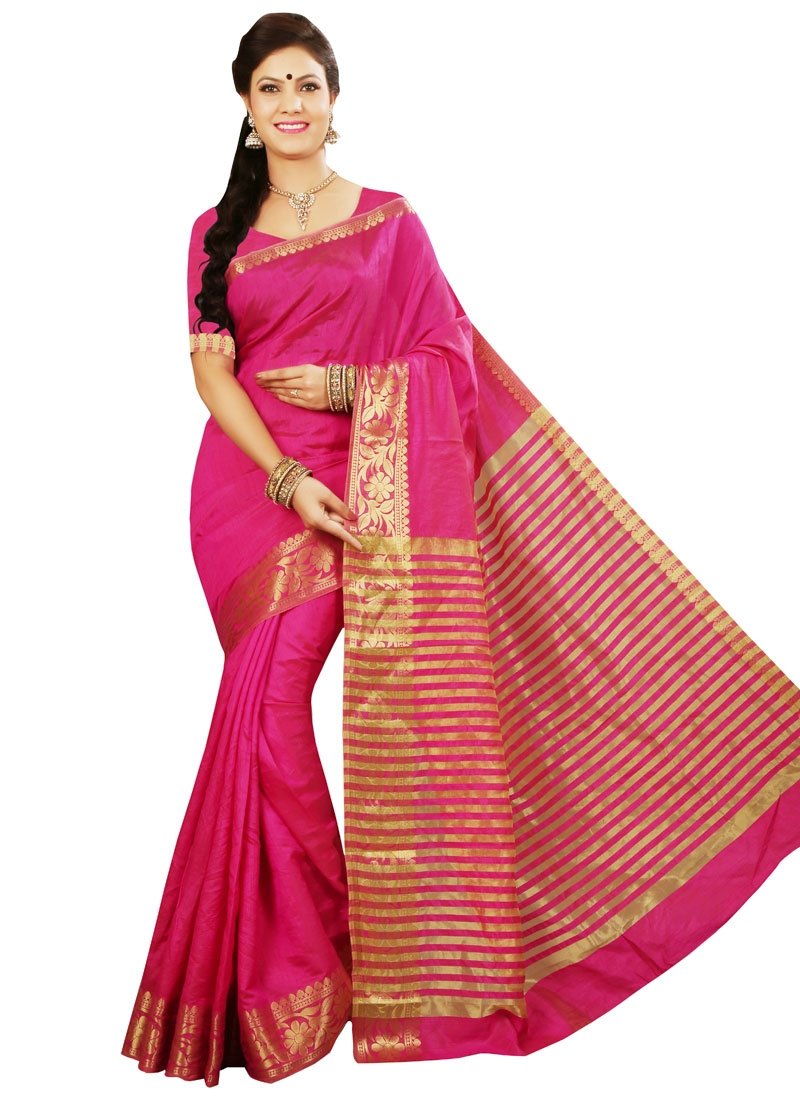 Intriguing Resham Work Art Silk Casual Saree