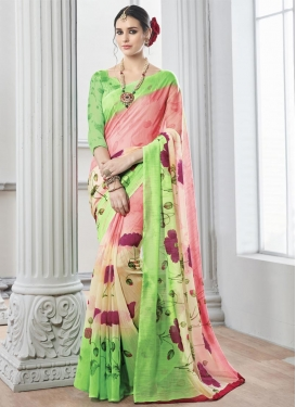 Intrinsic Art Silk Trendy Classic Saree
