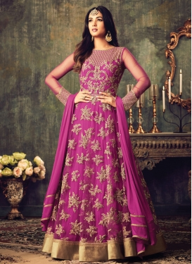 Intrinsic Beads Work Net Salwar Kameez