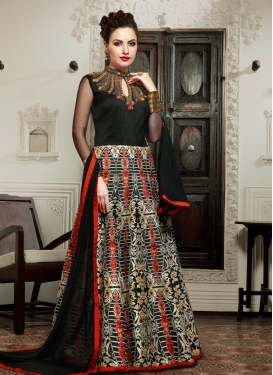 Intrinsic  Beads Work Silk Floor Length Anarkali Salwar Suit For Festival