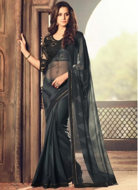 Intrinsic Faux Georgette Designer Saree