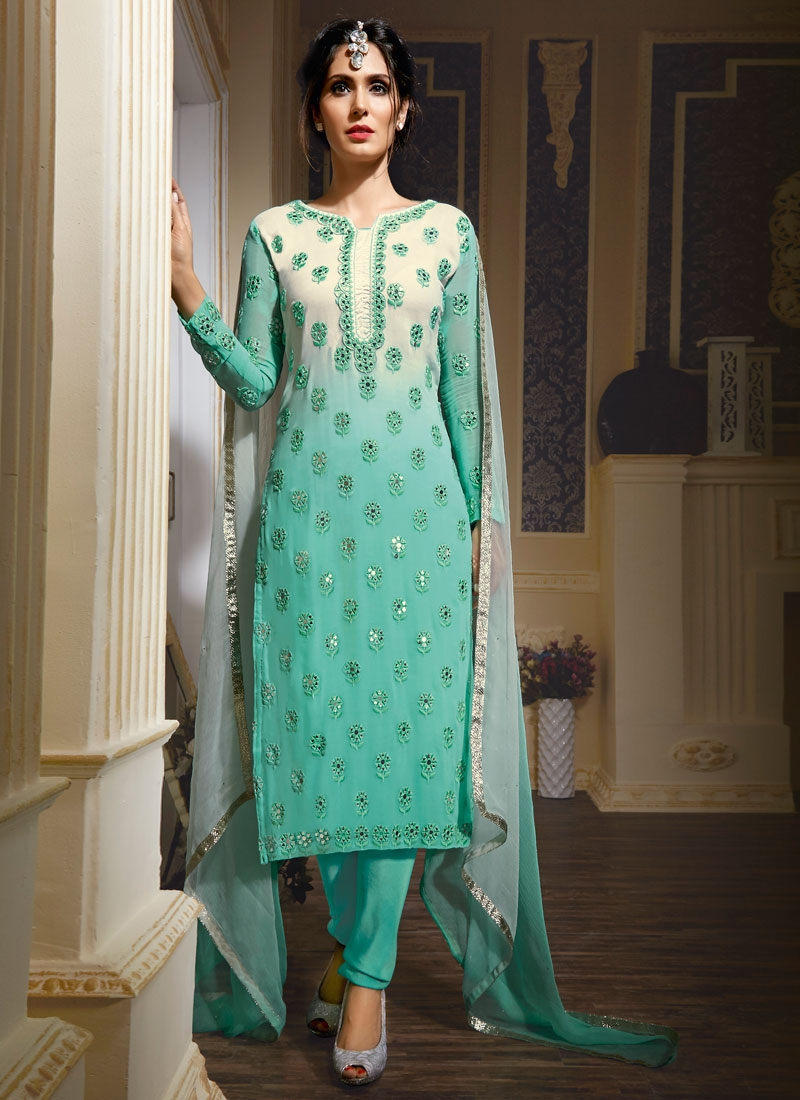 Intrinsic Mirror Work Party Wear Salwar Kameez