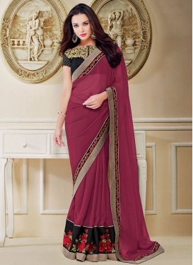 Intrinsic Patch Border Work Amy Jackson Party Wear Saree
