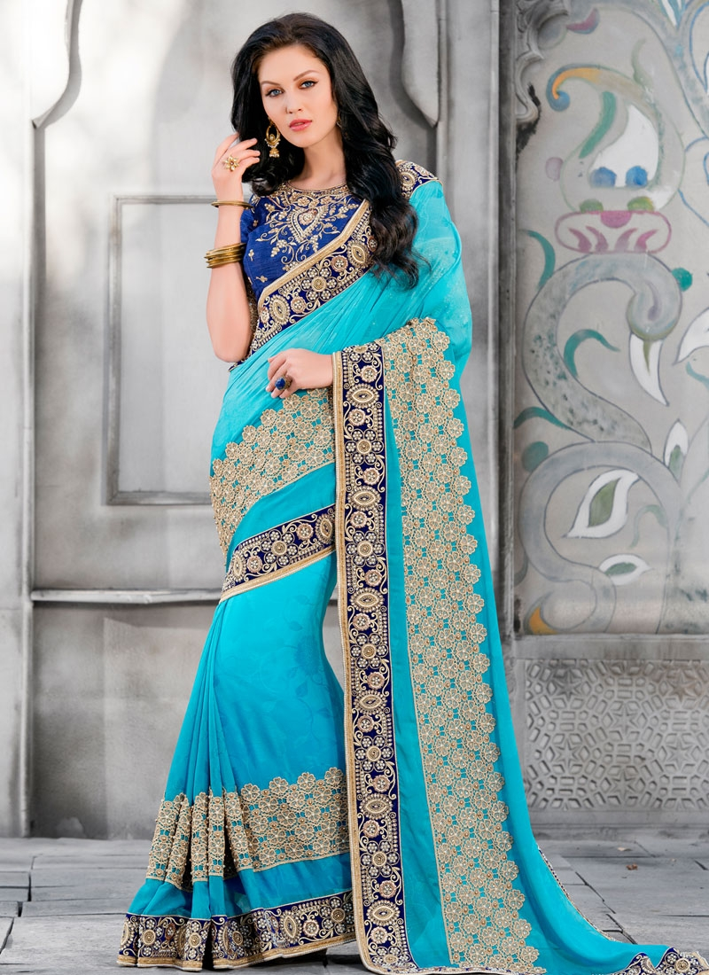 Invaluable Lace And Beads Work Designer Saree