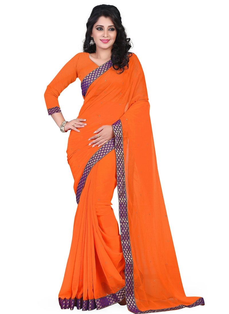 Invaluable Lace And Resham Work Casual Saree