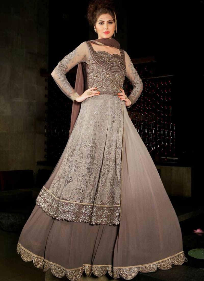 Invigorating Embroidery Work Long Length Designer Suit