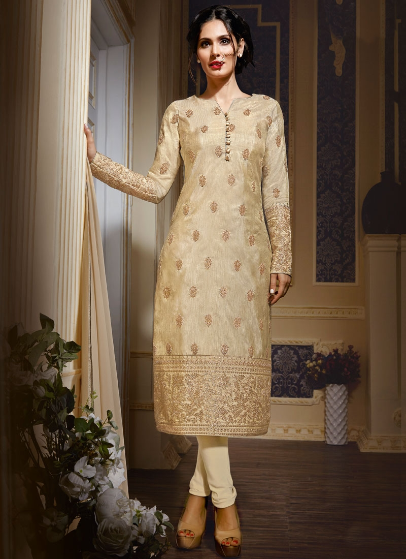 Invigorating Stone Work Art Silk Party Wear Salwar Suit