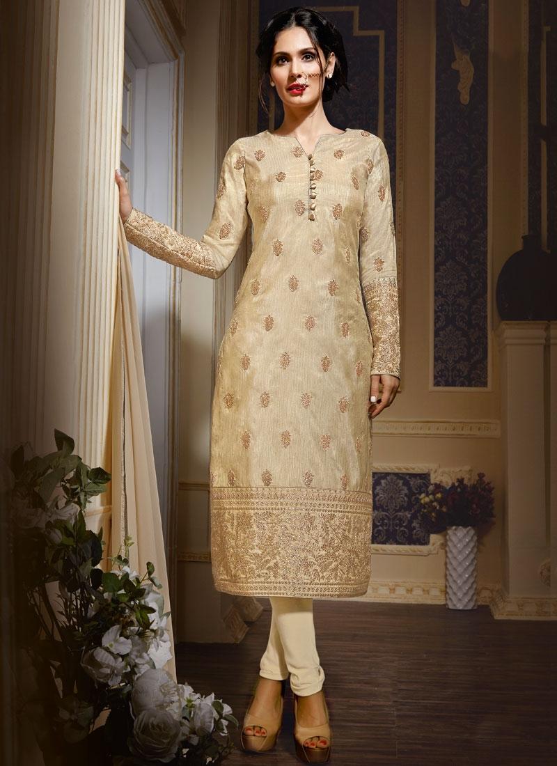 Invigorating Stone Work Art Silk Party Wear Salwar Suit