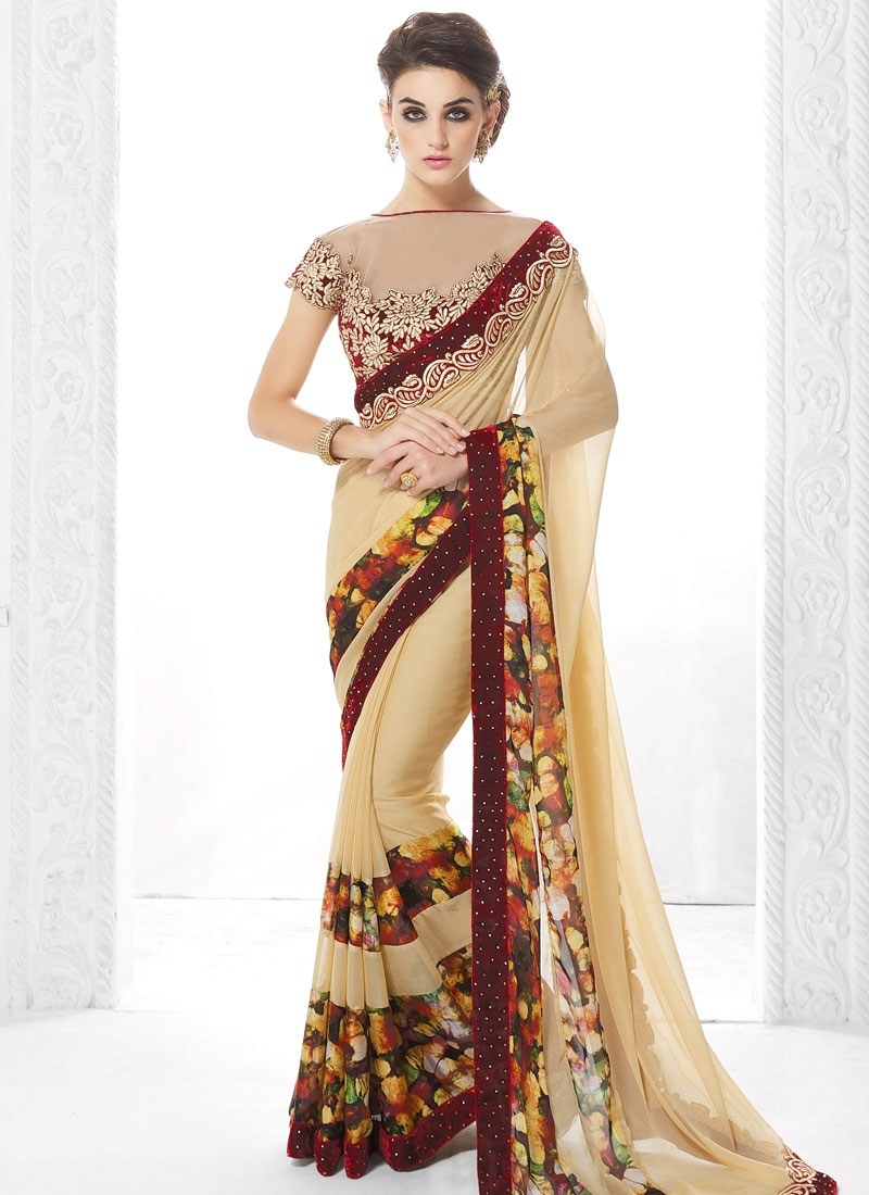 Invigorating Velvet Patch Designer Saree