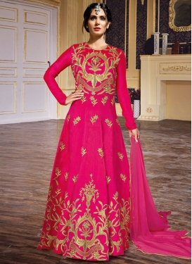 Irresistib Art Silk Long Length Anarkali Salwar Suit