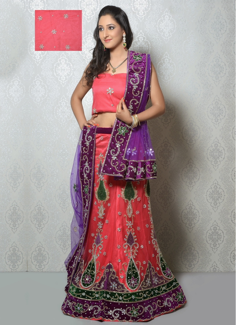 Irresistible Booti And Cord Work Bridal Lehenga Choli