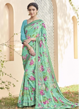 Irresistible  Brasso Georgette Traditional Saree