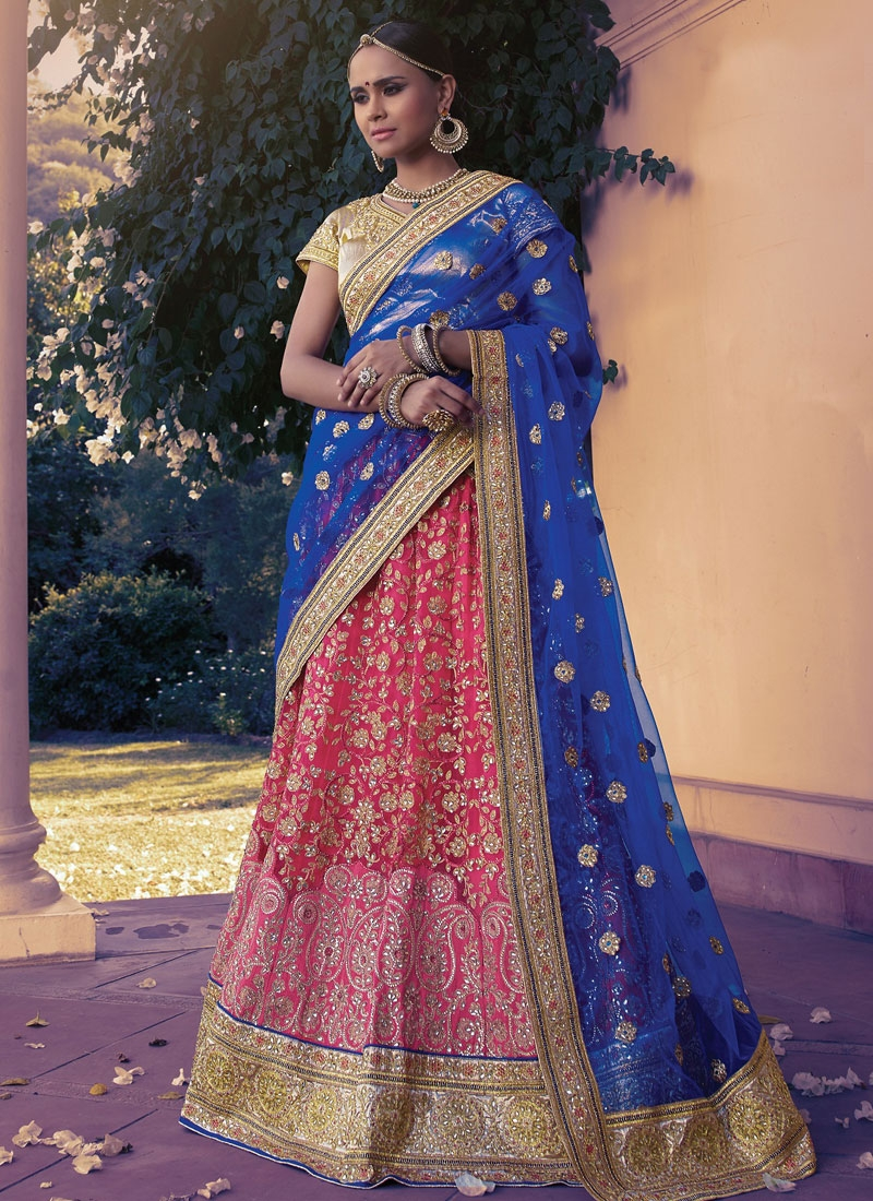 Irresistible Embroidery Work Net Bridal Lehenga Choli