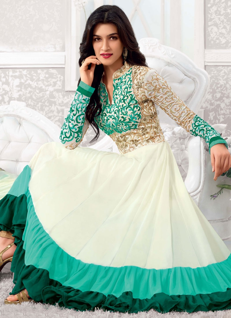 Irresistible Jaal And Stones Work Anarkali Salwar Kameez