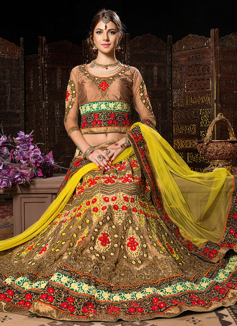 Irresistible Lace And Patch Work Bridal Lehenga Choli