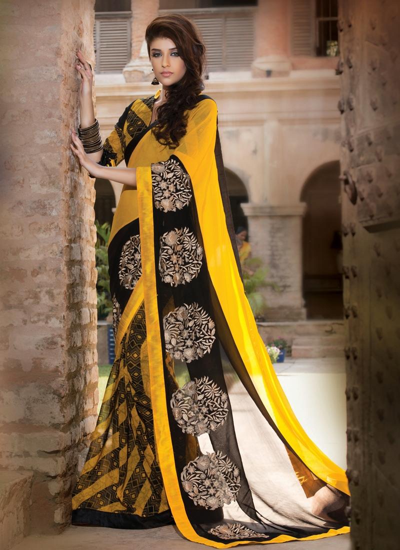 Irresistible Resham And Patch Work Designer Saree