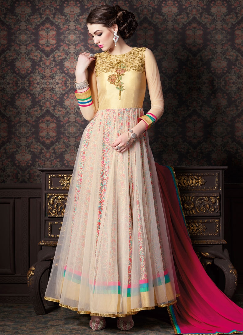 Irresistible Sequins Work Double Layered Designer Salwar Kameez