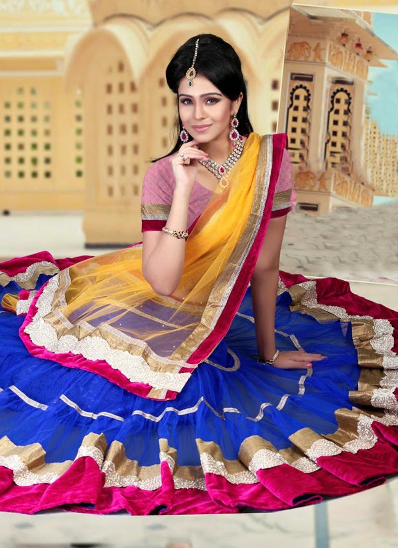 Irresistible Velvet Work Wedding Lehenga Choli