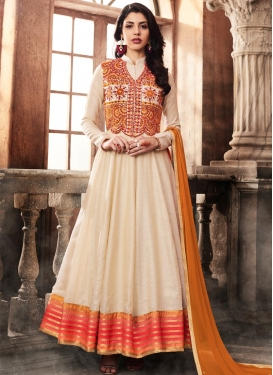 Jacket Style Anarkali Suit For Festival