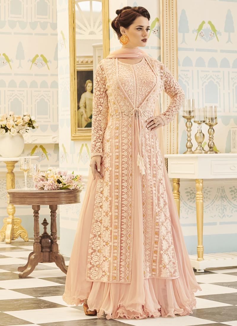 Jacket Style Salwar Kameez For Ceremonial