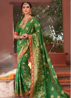 Jacquard Contemporary Saree