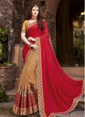 Jacquard Half N Half Designer Saree