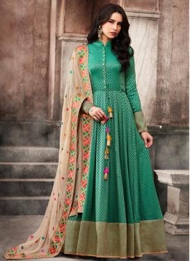 Jacquard Long Length Anarkali Salwar Suit
