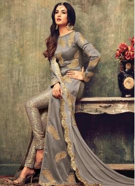 Jacquard Pant Style Designer Salwar Suit For Ceremonial