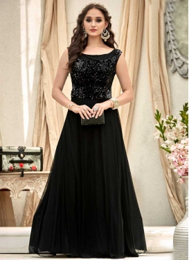 Jacquard Resham Work Readymade Designer Gown