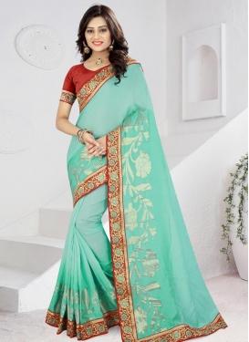 Jacquard Silk Contemporary Saree