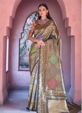 Jacquard Silk Contemporary Saree For Festival