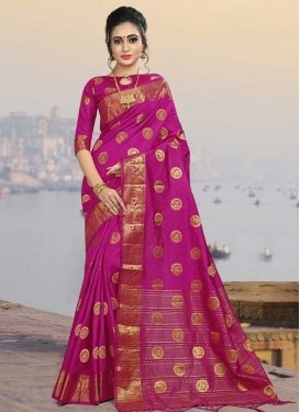 Jacquard Silk Contemporary Style Saree For Festival