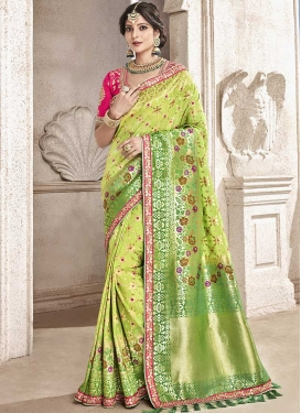Jacquard Silk Designer Contemporary Saree