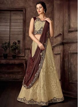 Jacquard Silk Designer Lehenga Saree