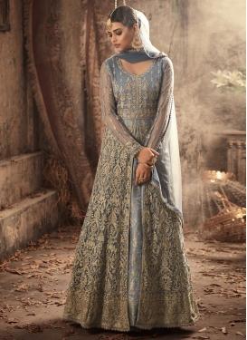 Jacquard Silk Floor Length Designer Salwar Suit