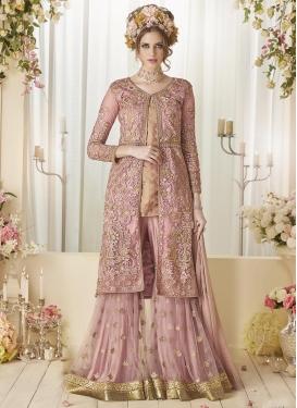 Jacquard Silk  Jacket Style Salwar Suit For Festival