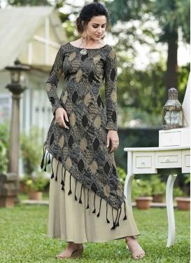 Jacquard Silk Layered Designer Salwar Kameez