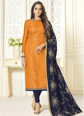 Jacquard Silk Long Length Pakistani Salwar Suit