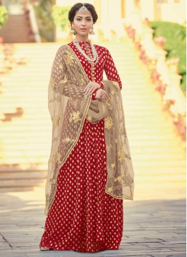 Jacquard Silk Long Length Salwar Kameez
