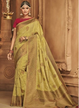 Jacquard Silk Stone Work Traditional Designer Saree