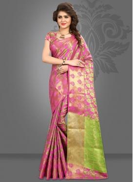 Jacquard Silk Thread Work Classic Saree